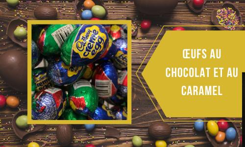 Œufs au chocolat et au caramel