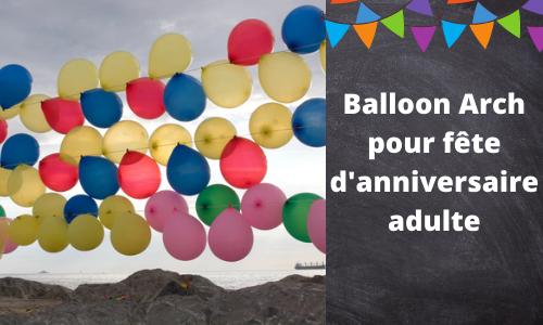 Balloon Arch pour fête d'anniversaire adulte
