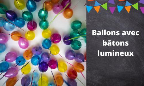 Ballons avec bâtons lumineux
