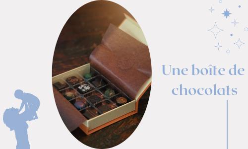 Une boîte de chocolats