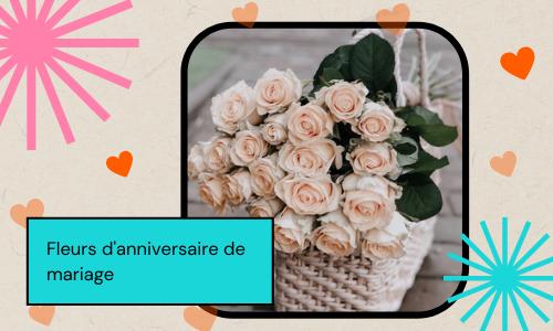 Fleurs d'anniversaire de mariage
