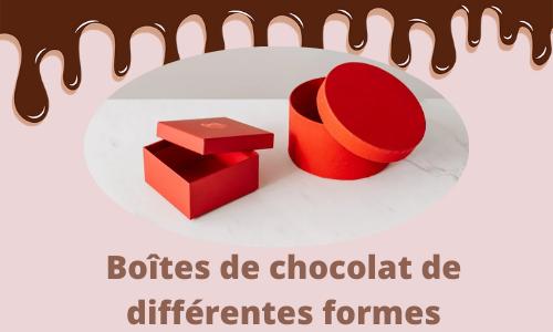 Boîtes de chocolat de différentes formes