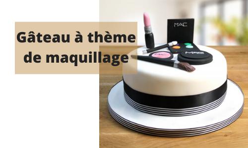 Gâteau à thème de maquillage