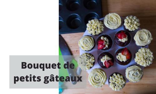 Bouquet de petits gâteaux