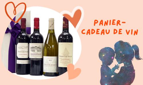 Panier-cadeau de vin