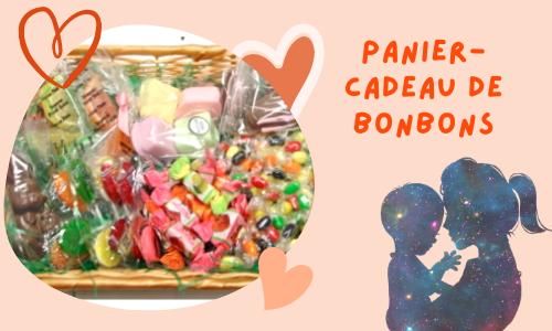Panier-cadeau de bonbons