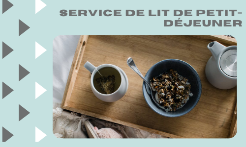 Service de lit de petit-déjeuner