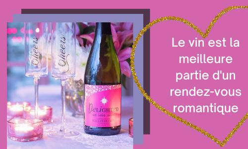 Le vin est la meilleure partie d'un rendez-vous romantique