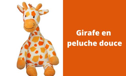 Girafe en peluche douce