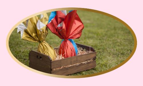 Panier-cadeau rempli de chocolat