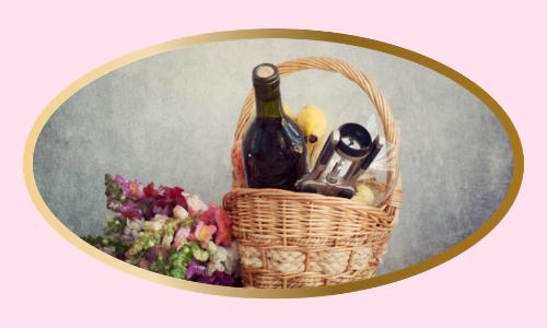 Panier cadeau vin