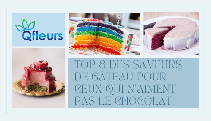 Top 8 des saveurs de gâteau pour ceux qui n'aiment pas le chocolat
