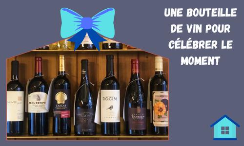 Une bouteille de vin pour célébrer le moment