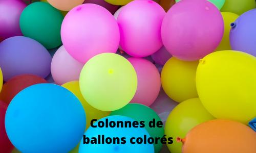 Colonnes de ballons colorés