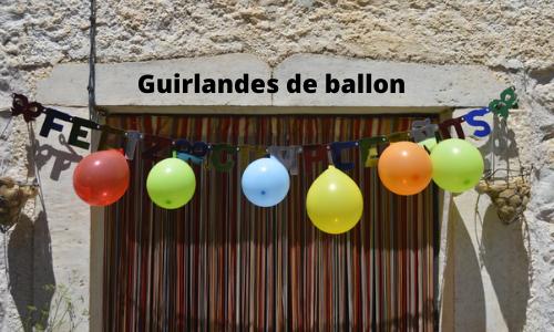 Guirlandes de ballon