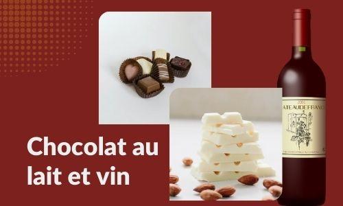 Chocolat au lait et vin