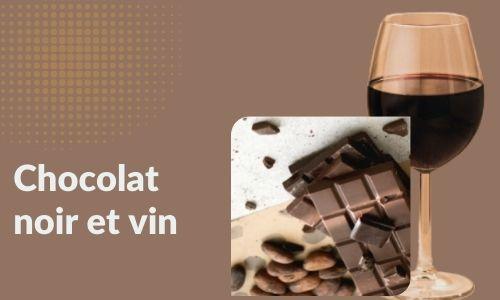 Chocolat noir et vin