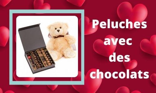 Peluches avec des chocolats