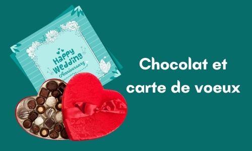 Chocolat et carte de voeux