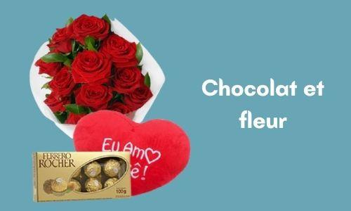 Chocolat et fleur