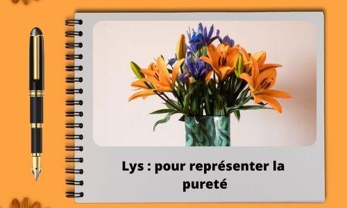 Lys : pour représenter la pureté