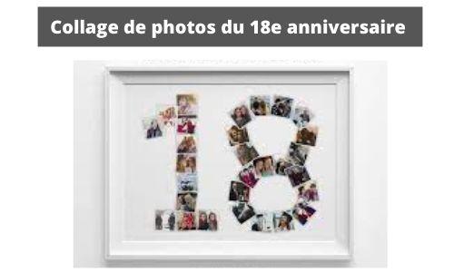 Collage de photos du 18e anniversaire