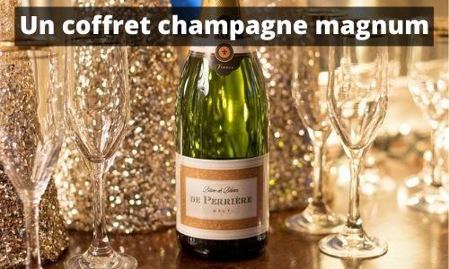 Un coffret champagne magnum